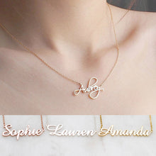 Load image into Gallery viewer, Custom Name Necklace-Custom Name Necklace-Rose Gold-50cm-OldEnglish-COOL FUN TECH