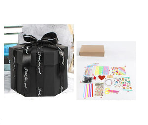 D.I.Y Explosion Photo Story GIFT Box-Surprise DIY Gift Box-Black assemble27 X tools-COOL FUN TECH