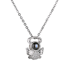 Load image into Gallery viewer, I Love you in 100 Languages Necklaces and Rings-necklace & ring set-Angel necklace-COOL FUN TECH