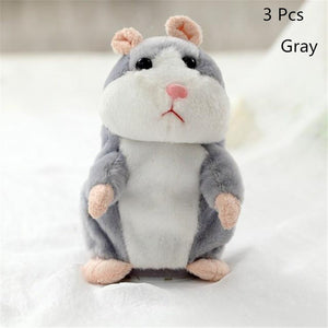 Talking Hamster Plush Toys-Talking Hamster Toy-Gray 15cm-3-COOL FUN TECH