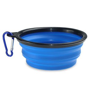 Foldable Silicone Pet Dog Feeding Bowl-Foldable Pet Dog Bowl-Blue-COOL FUN TECH
