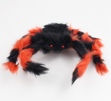 Load image into Gallery viewer, Halloween Decoration Giant Spider Plush Toy & Spider Web-Halloween Spider Decorations-Orange spider-200cm-COOL FUN TECH