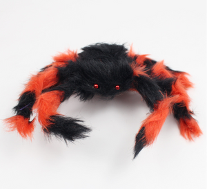 Halloween Decoration Giant Spider Plush Toy & Spider Web-Halloween Spider Decorations-Orange spider-200cm-COOL FUN TECH