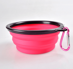 Foldable Silicone Pet Dog Feeding Bowl-Foldable Pet Dog Bowl-Pink-COOL FUN TECH