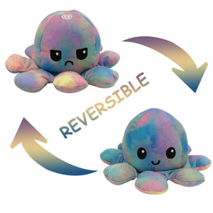 Cute Flip-Mood Octopus Plush Toy-Flip Mood Octopus Plush Toy-Pink color-10x20cm-COOL FUN TECH
