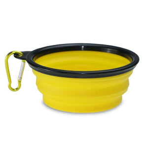 Foldable Silicone Pet Dog Feeding Bowl-Foldable Pet Dog Bowl-Yellow Large-COOL FUN TECH