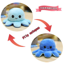Load image into Gallery viewer, Cute Flip-Mood Octopus Plush Toy-Flip Mood Octopus Plush Toy-Blue light blue-30cm-COOL FUN TECH