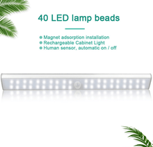 Load image into Gallery viewer, Portable Rechargeable Magnetic Motion Sensor LED Light-LED lighting-40beads-Cold white-COOL FUN TECH