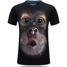 Load image into Gallery viewer, Cool Unisex 3D Monkey Face T-shirt-T-shirt-Black-XL-COOL FUN TECH