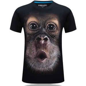 Cool Unisex 3D Monkey Face T-shirt-T-shirt-Black-XL-COOL FUN TECH