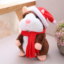 Load image into Gallery viewer, Talking Hamster Plush Toys-Talking Hamster Toy-Christmas dark Brown15cm-1-COOL FUN TECH