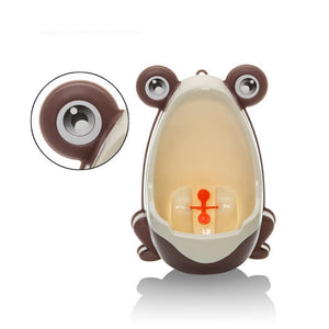Cute Frog Toilet Potty Training Set For Boys-Baby Potty Toilet-Coffee-COOL FUN TECH