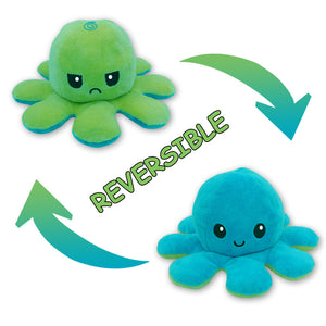 Cute Flip-Mood Octopus Plush Toy-Flip Mood Octopus Plush Toy-Blue Green-10x20cm-COOL FUN TECH