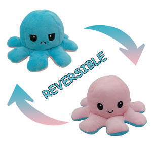 Cute Flip-Mood Octopus Plush Toy-Flip Mood Octopus Plush Toy-Pink Blue-10x20cm-COOL FUN TECH