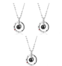 Load image into Gallery viewer, I Love you in 100 Languages Necklaces and Rings-necklace & ring set-Silver necklace 3 Pcs-COOL FUN TECH