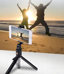 Selfie Stick Tripod for iPhone Android Phone with Bluetooth Remote (Slim Version)-Tripod Selfie Stick-white-COOL FUN TECH