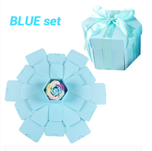 D.I.Y Explosion Photo Story GIFT Box-Surprise DIY Gift Box-Blue assemble27-COOL FUN TECH