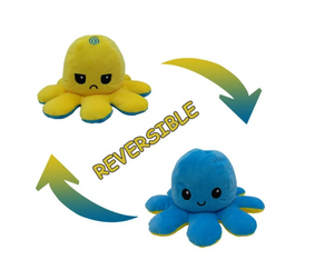 Cute Flip-Mood Octopus Plush Toy-Flip Mood Octopus Plush Toy-Golden yellow-10x20cm-COOL FUN TECH