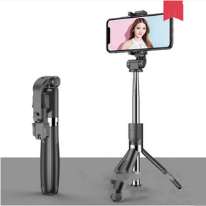 Selfie Stick Tripod for iPhone Android Phone with Bluetooth Remote-Tripod Selfie Stick-Black-L01S-COOL FUN TECH