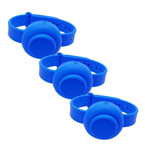 Unisex Silicone Hand Gel Sanitizer Dispenser Wristband for Adults Children-Disinfectant Wristband-Blue-Q1pcs-COOL FUN TECH
