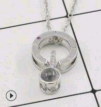 Load image into Gallery viewer, I Love you in 100 Languages Necklaces and Rings-necklace & ring set-Long silver necklace-COOL FUN TECH