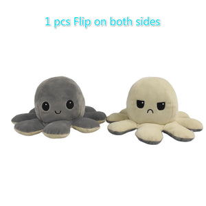 Cute Flip-Mood Octopus Plush Toy-Flip Mood Octopus Plush Toy-Grey-10x20cm-COOL FUN TECH