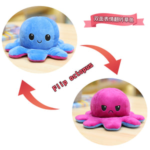 Cute Flip-Mood Octopus Plush Toy-Flip Mood Octopus Plush Toy-Blue purple-30cm-COOL FUN TECH