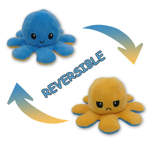 Cute Flip-Mood Octopus Plush Toy-Flip Mood Octopus Plush Toy-Yellow blue-10x20cm-COOL FUN TECH