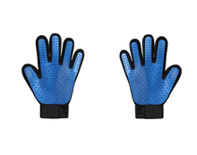 Load image into Gallery viewer, Pet Grooming Gloves With Gentle Deshedding Brush For Cat Dog Bath or Hair Removal-Pet Grooming Glove-1 pair (Left hand + right hand)-Blue-COOL FUN TECH