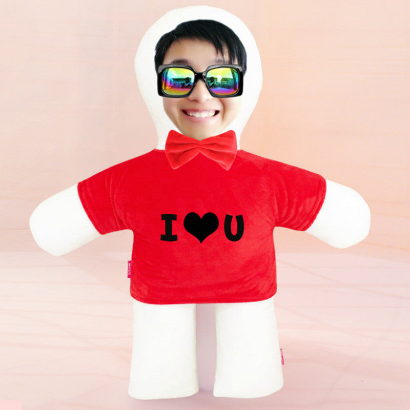 Custom humanoid pillow diy photo doll-Custom Human Shape Pillow-Red-45cm-COOL FUN TECH