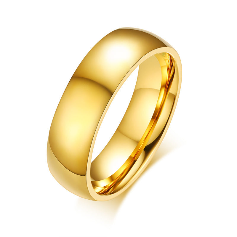 Golden Couple Rings with Personalized Engraving-Custom Couple Ring-Golden mirror-No.10-COOL FUN TECH