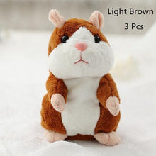 Load image into Gallery viewer, Talking Hamster Plush Toys-Talking Hamster Toy-Light Brown 15cm-3-COOL FUN TECH