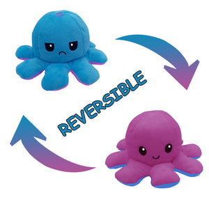 Cute Flip-Mood Octopus Plush Toy-Flip Mood Octopus Plush Toy-Purple blue-10x20cm-COOL FUN TECH