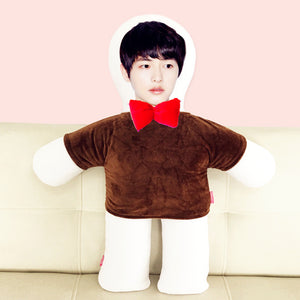 Custom humanoid pillow diy photo doll-Custom Human Shape Pillow-Coffee-45cm-COOL FUN TECH