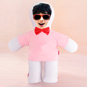 Custom humanoid pillow diy photo doll-Custom Human Shape Pillow-Pink-45cm-COOL FUN TECH