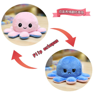 Cute Flip-Mood Octopus Plush Toy-Flip Mood Octopus Plush Toy-Pink dark blue-20cm-COOL FUN TECH