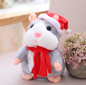 Talking Hamster Plush Toys-Talking Hamster Toy-Christmas grey 15cm-1-COOL FUN TECH