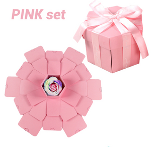 D.I.Y Explosion Photo Story GIFT Box-Surprise DIY Gift Box-Pink assemble27-COOL FUN TECH