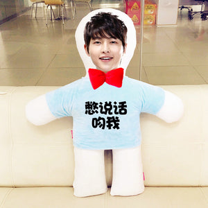 Custom humanoid pillow diy photo doll-Custom Human Shape Pillow-Blue-45cm-COOL FUN TECH
