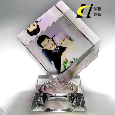 Personalized Photo Crystal Cube-Customized Photo Cube-K9-COOL FUN TECH