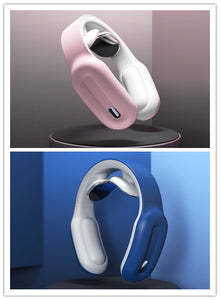 Rechargeable Portable Neck Massager with Remote Controller-Neck Massager-Pink blue-COOL FUN TECH