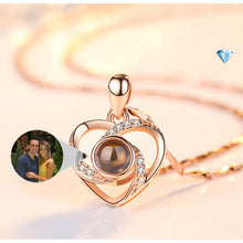 Load image into Gallery viewer, Customizable Projection Colorful Photo Necklace-Customized Projection Photo Necklace-Rose Gold-COOL FUN TECH