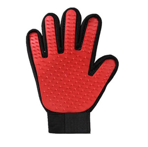 Pet Grooming Gloves With Gentle Deshedding Brush For Cat Dog Bath or Hair Removal-Pet Grooming Glove-1 x right hand-Red-COOL FUN TECH