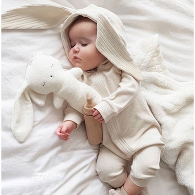 Bunny Baby Rompers Autumn Winter Clothing-Bunny Baby Rompers-White-80cm-COOL FUN TECH