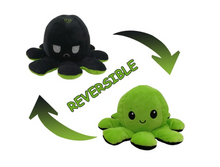Load image into Gallery viewer, Cute Flip-Mood Octopus Plush Toy-Flip Mood Octopus Plush Toy-Green black-10x20cm-COOL FUN TECH