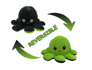 Cute Flip-Mood Octopus Plush Toy-Flip Mood Octopus Plush Toy-Green black-10x20cm-COOL FUN TECH
