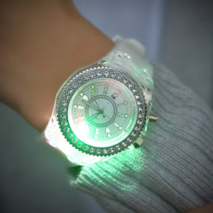 LED Unisex Couple Jelly Watches-Couple Jelly Watch-White-COOL FUN TECH