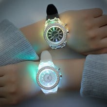 Load image into Gallery viewer, LED Unisex Couple Jelly Watches-Couple Jelly Watch-Black-COOL FUN TECH