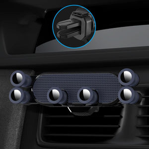 UNIVERSAL GRAVITY CAR PHONE HOLDER-Universal Car Phone Holder Aircond Grille Mounted-Blue For Square AC Grille-COOL FUN TECH