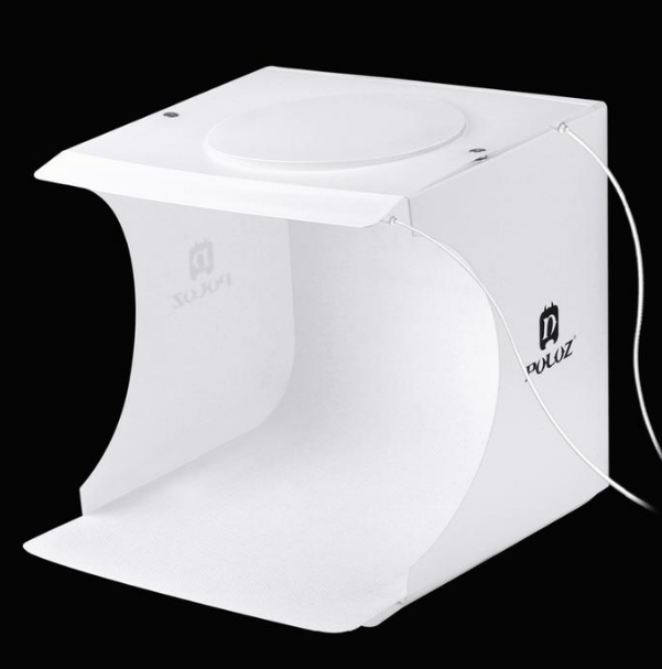 Portable Photo Booth Mini Studio with LED Lights-Portable Photo Booth-with 2 bar lights-COOL FUN TECH